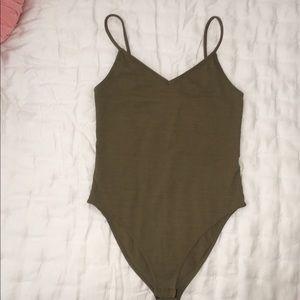 TOPSHOP Olive Bodysuit